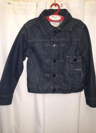 Джинсовая куртка пиджак 5-6лет
