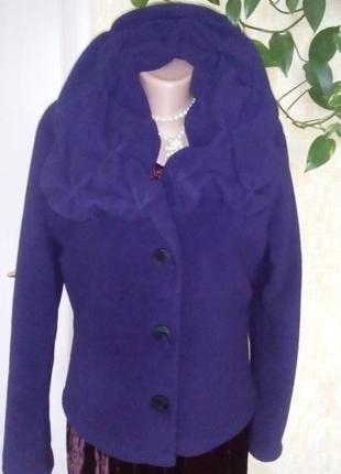Голандия!флисовое красивенное фирменное полу-пальто /пальто/ куртка/ парка /кофта