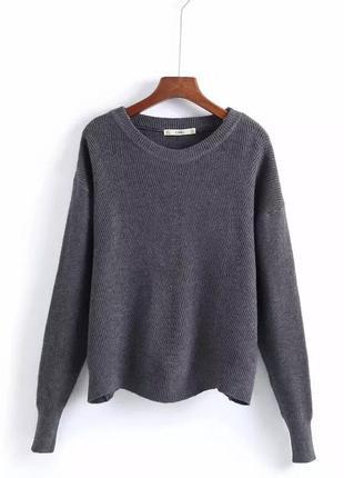 Мягкий пуловер на осень размер m-l