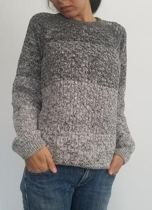 Бавовняний светрик джемпер пуловер  сірого кольору