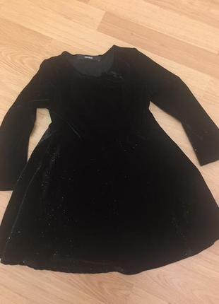 Горящее бархатное платье  george  на 3-4 года