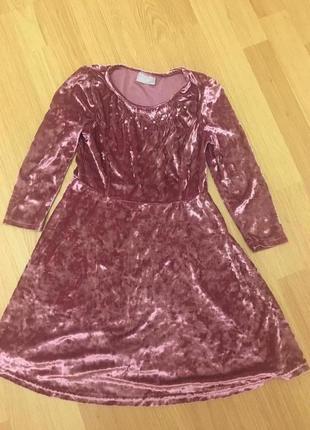 Бархатное нарядное  платье matalan на 9лет