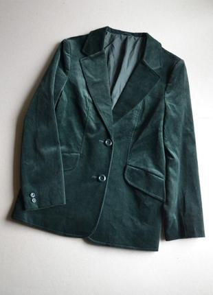 Трендовый бархатный велюровый пиджак жакет р.l 100%хлопок  c&a