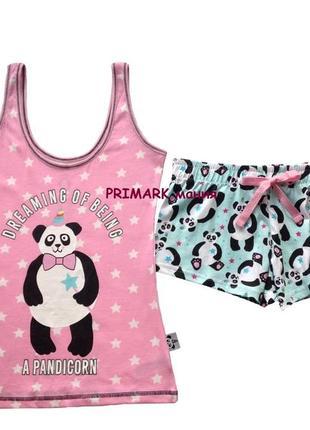 Женская пижама панда primark