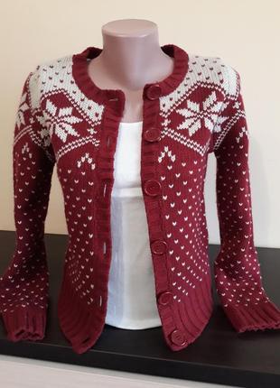 Кардиган,жакет,пиджак, свитер,кофта с жаккардовым узором
