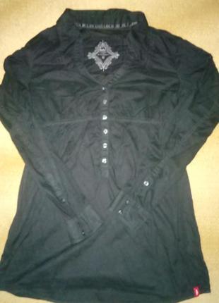 Удлененная рубашка /туника чорного цвета