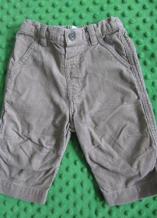 Вельветовые штанишки 3-6 месяцев