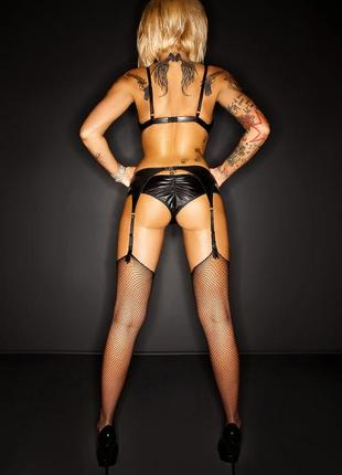 Amanda premium set комплект бюстгальтер стринги пояс для чулок и чулки3 фото