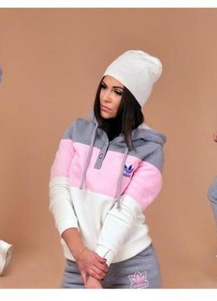 b8ff14f9 Женский спортивный костюм adidas теплый и мягкий на флисе Adidas ...