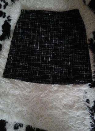 Плотная черная юбка papaya