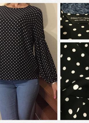 Превосходная💐💐💐 нежная блуза в горох💕💕💕 размер м/l
