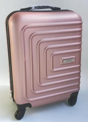 Маленький чемодан 4-х колесный пластиковый ormi xs размер