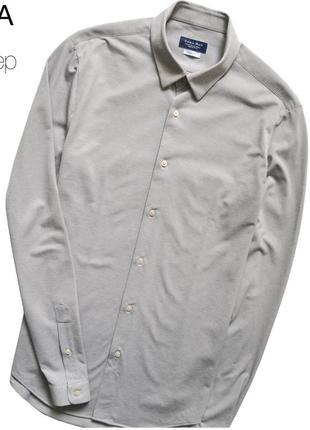 Zara m / приталенная рубашка