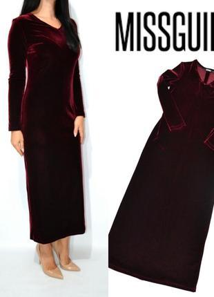 Платье вечернее бархат макси missguided.