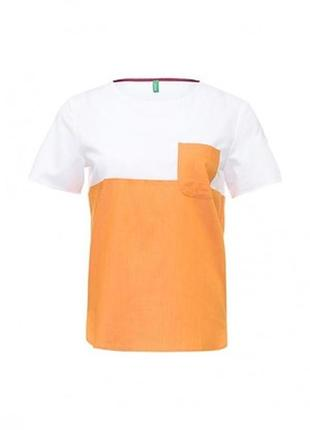 2х цветная футболка с кармашком