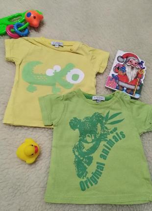 💫набор 2в1 одним лотом футболки на мальчика бренда in extenso, 2 шт, 3-6 мес