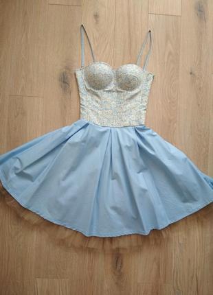 Платье с корсетом в стиле dior