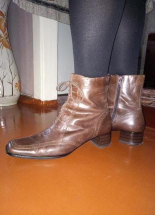 Мягкие кожаные ботинки (ст. 27 см)