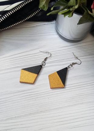Сережки black&gold
