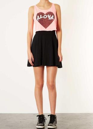 Черная базовая юбка topshop