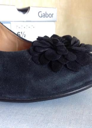 Туфли из натуральний кожи (нубук) gabor