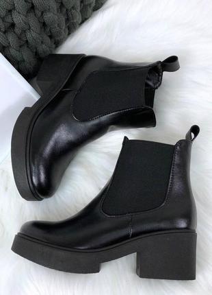 36-41 рр деми / зима ботинки, ботильоны черные натуральный замш, кожа