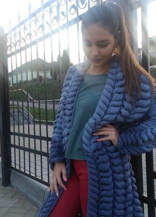 Женский вязаный кардиган лало шиншилла азиатский колосок шубка шуба пальто