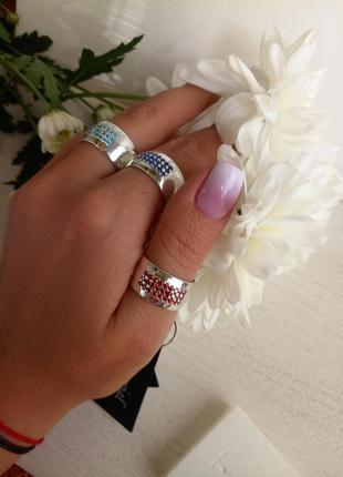 Новое серебряное кольцо 925 пробы,  размер 18