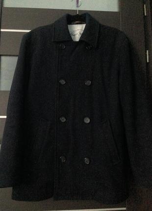 Мужское шерстяное пальто pepe jeans размер l