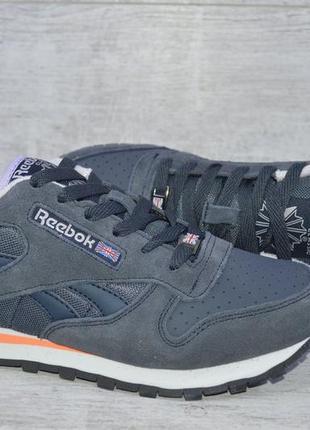 Замшевые женские кроссовки reebok, 2 цвета, р-р 36-41