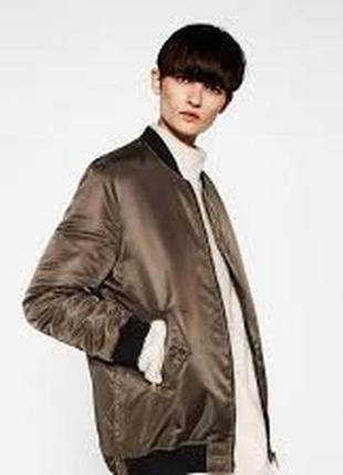 Утепленная куртка zara m