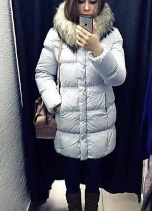 Пуховик zara куртка зимняя парка пуховик утиный пух
