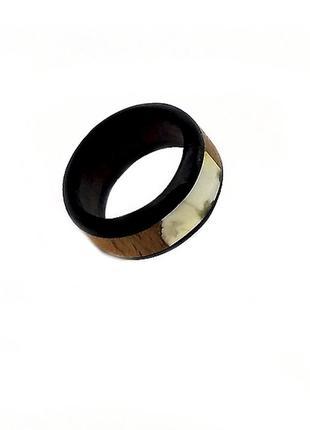 Кольцо, колечко дерево, янтарь