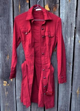 Тренч кардиган платье-рубашка удлиненная рубашка стрейч