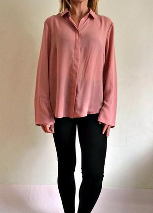 Нюдово-розовая блуза 12