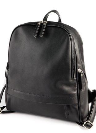 Женский вместительный городской рюкзак на молниях