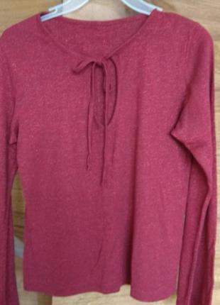Легкая кофта свитер  люрекс