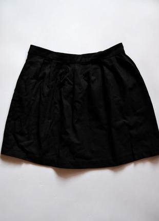 Модная женская короткая черная юбка stradivarius