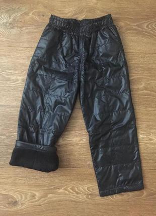 Штаны, брюки детские на флисе, демисезонные, тёплые 134
