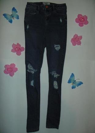 Рваные джинсы для девочек new look