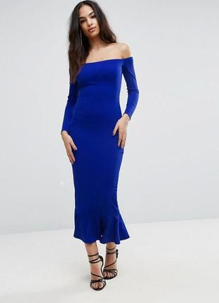 Эксклюзивное платье макси с открытыми плечиками club l