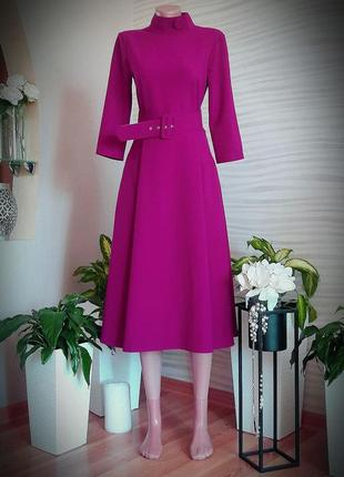 Шикарное платье цвета фуксии. турция.