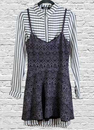 Сарафан кружевной на футболку рубашку, платье короткое