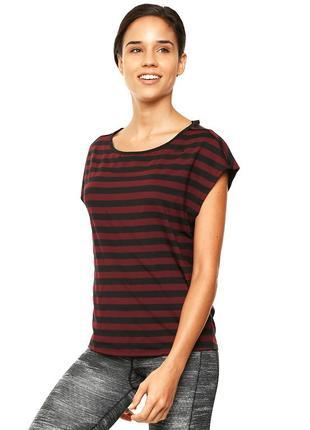 Футболка adidas q4 women's striped t-shirt, l, 40 (12)