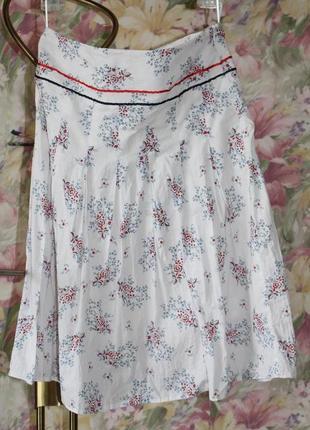 Летняя юбка в цветах