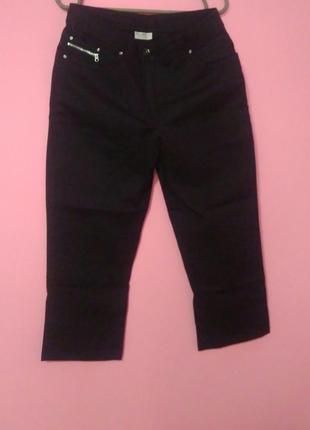 Бріджі / штани /чорний  джинс