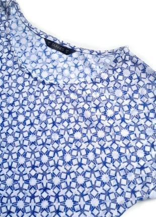 Легкая сине-белая футболка с burnout design