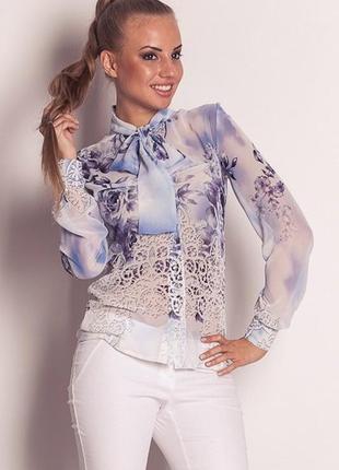 Шифоновая блуза vilenna s, m, l
