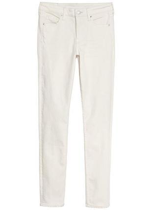 Белые стрейчевые джинсы h&m 27,28,светлые бежевые джинсы,бежевые крутые джинсы2