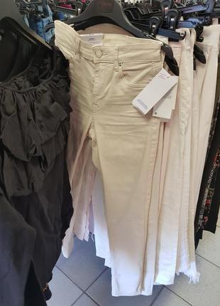 Белые стрейчевые джинсы h&m 27,28,светлые бежевые джинсы,бежевые крутые джинсы3